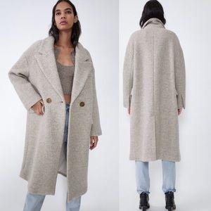ZARA wool blend oversized coat